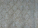 Шаль Ромбики ш-00441, цвет: светло-серый, оренбургский пуховый платок, фото 7