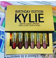 Набор жидких помад Matte Liquid Lipstick Kylie 6 цветов