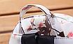 Рюкзак женский кожзам Цветочный принт Белый, фото 5