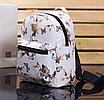 Рюкзак женский кожзам Цветочный принт Белый, фото 2
