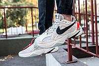 Кроссовки Nike M2K Tekno Off-White (White/Orange) Реплика ААА