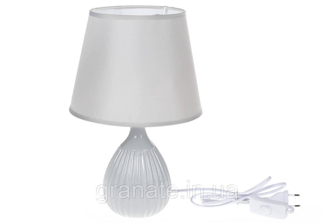 Лампа настольная с абажуром, цвет: французкий серый 33 см