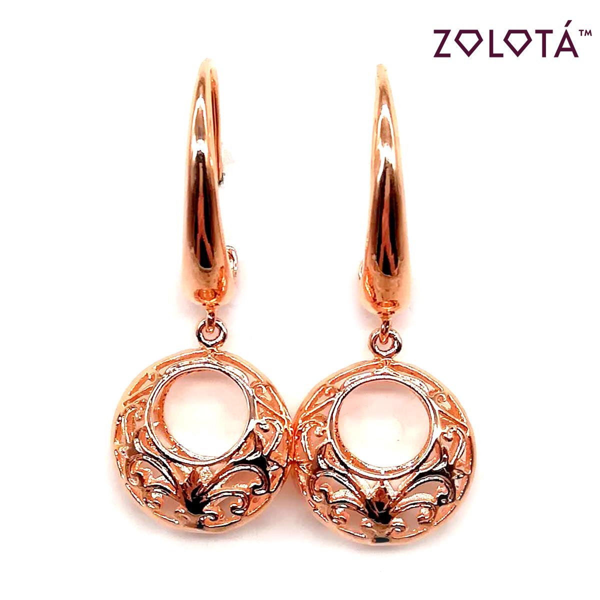 Серьги Zolota из медицинского золота, в позолоте, ЗЛ00041 (1)