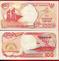 Индонезия 100 рупий 1992 год состояние UNC
