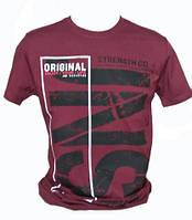 Мужская турецкая бордовая футболка, фото 1