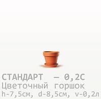 Горшок керамический для цветов Стандарт 7,5*8,5*0,2 литра