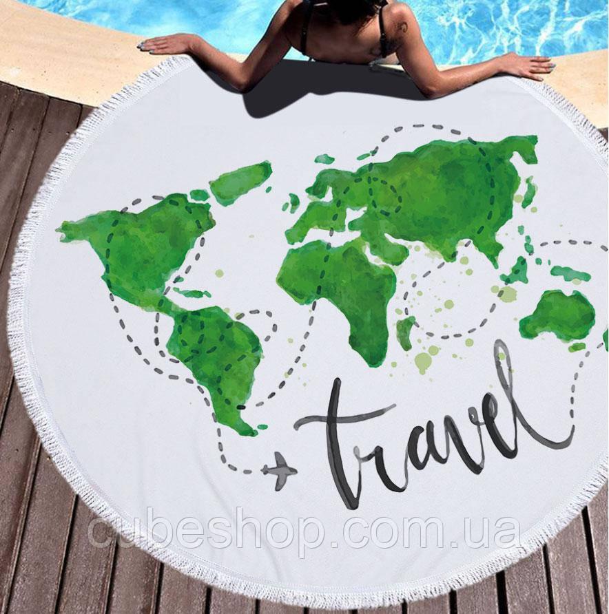 """Пляжный коврик из микрофибры """"Travel"""" (150 см)"""