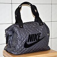 83884b842332 Спортивная стеганая женская сумка из ткани темно-серого цвета.