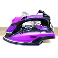 Паровой утюг DSP KD1001В фиолетовый техника для дома электрический утюг качественный