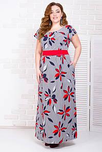 Платье женское с поясом и карманами 50-56 р