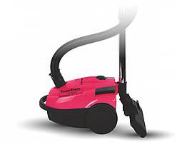 Пылесос мешковой розовый Astor VC - 1873RВ для сухой уборки дома 1800 Вт регулятор мощности индикатор