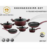 Набор посуды Zurrichberg ZBP - 7027 набор 11 предметов из алюминиевого сплава с мраморным покрытием