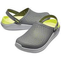 Мужские кроксы серые, сабо Crocs LiteRide оригинал