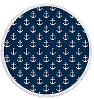 """Пляжный коврик из микрофибры """"Якоря"""" (150 см)"""