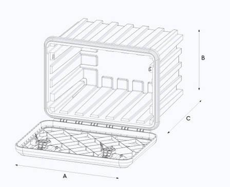 Ящик инструментальный ARKA 685 мм (8379), фото 2