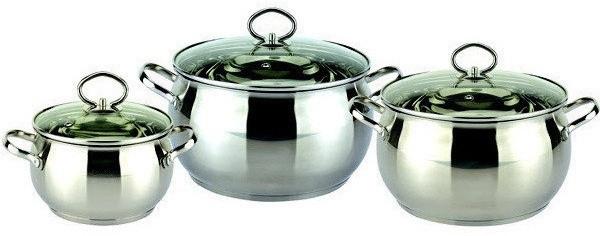 Качественная посуда Bohmann BH-0601 нержавеющая сталь 6 предметов комплект посуды