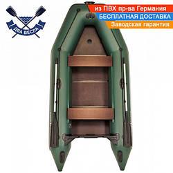 Килевая лодка Аквамания AMK-330 с жестким дном - слань-книжкой четырехместная со сдвижными сиденьями + бронь к