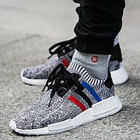 "Кроссовки Adidas NMD R1 Primeknit ""Tri Color"", фото 1"