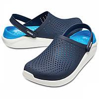 Мужские кроксы темно-синие, сабо Crocs LiteRide оригинал