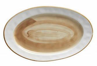 Блюдо овальное - 36 х 22 см, Белое / Коричневое (ALT Porcelain) Country