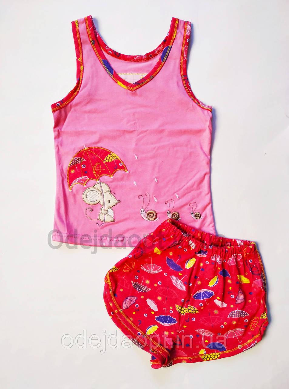 Подростковая летняя пижама для девочки майка и шорты