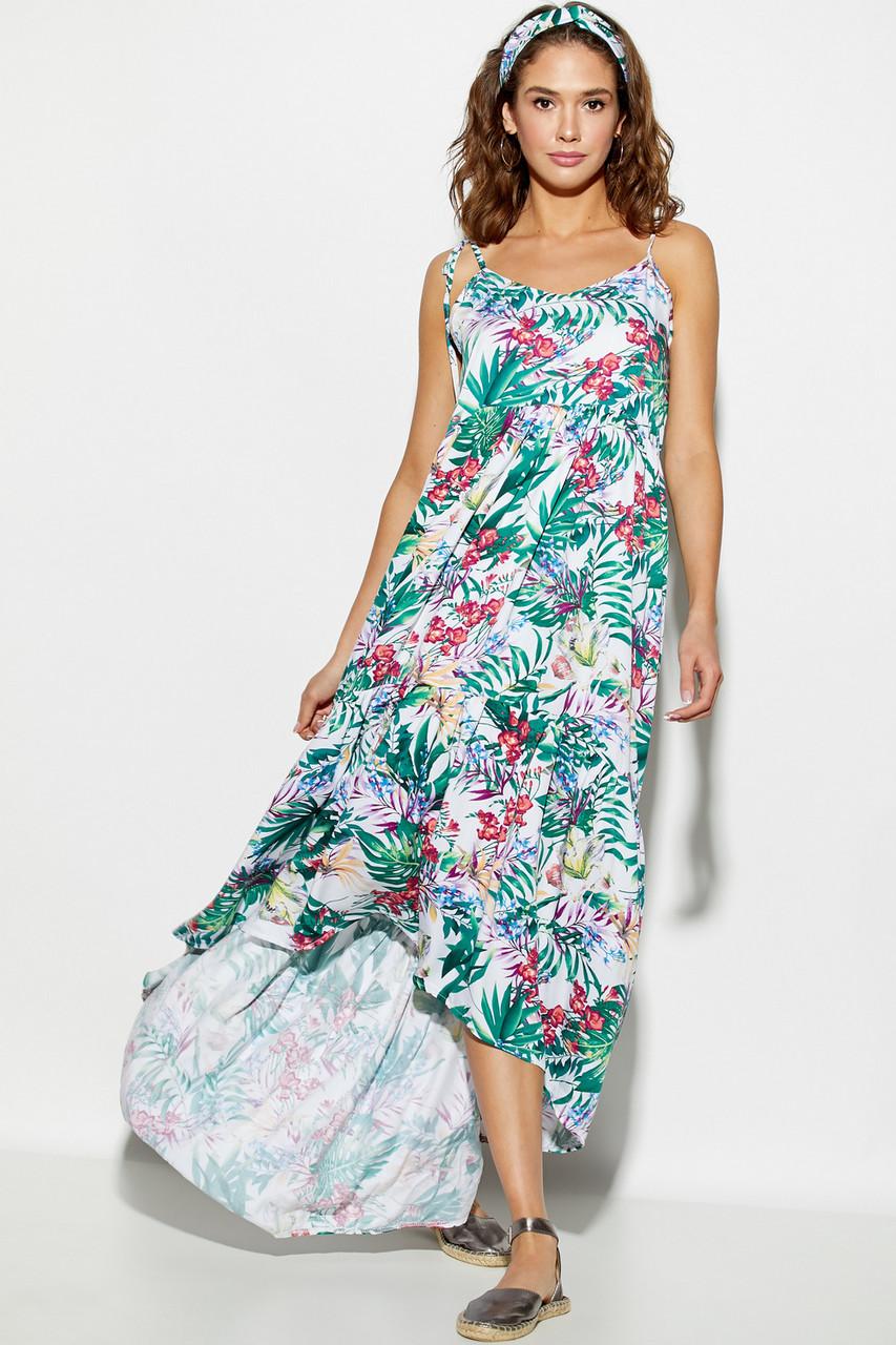 8e228211ace699 Жіноча літня сукня, повсякденна, сарафан, з квітковим принтом, молодіжна,  асиметрична,