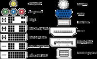 Видео кабеля VGA, DVI, HDMI, DisplayPort, HD-SDI