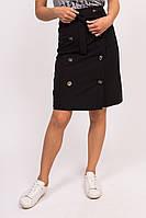 Юбка с декоративными пуговицами LUREX - черный цвет, M (есть размеры), фото 1