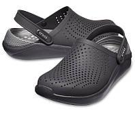 Мужские кроксы черные, сабо Crocs LiteRide оригинал