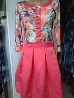 Платье красного цвета,нарядное.р.44.