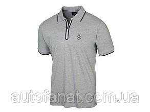 Оригинальная мужская рубашка-поло Mercedes-Benz Men's Polo Shirt, grey, MY2019 (B66958711)