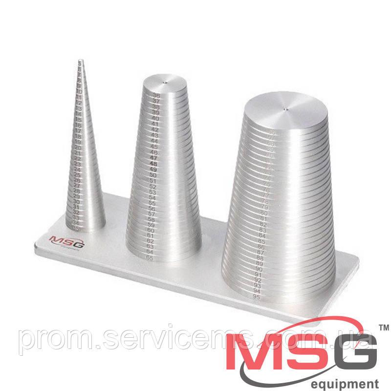 Приспособление для измерения резиновых колец диаметром 5 - 95 мм