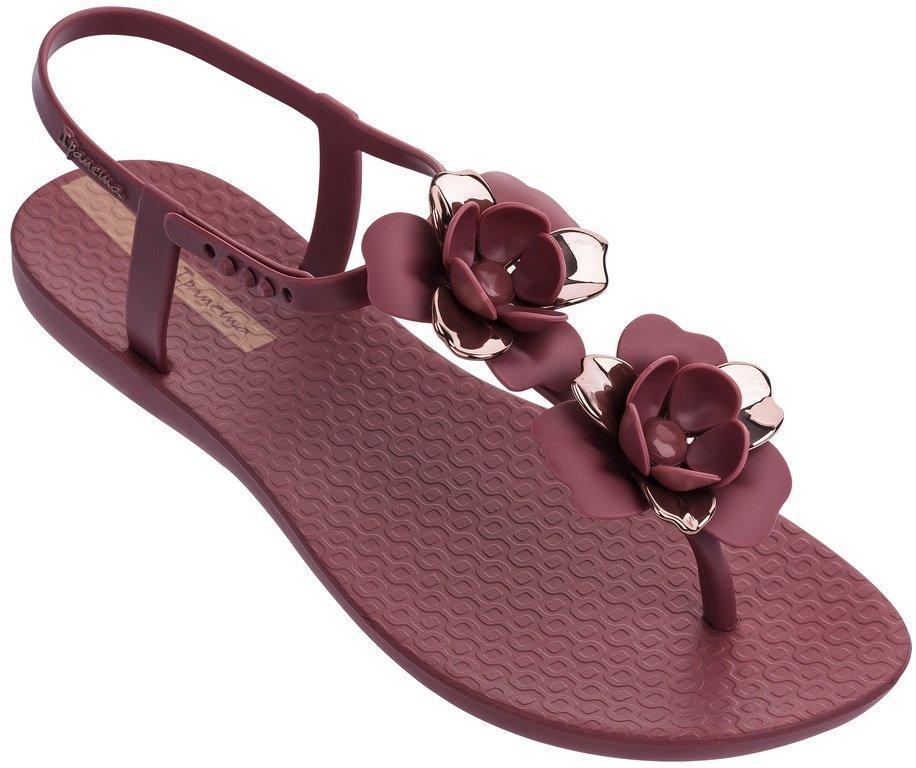 Оригинал Сандалии Женские 82662-24753 FLORAL Burgundy/Rose