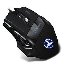 ➤Игровая Мышь ZELOTES T-80 черная LED подсветка 5500 DPI дополнительные кнопки USB 2.0 компьютерная ПК, фото 3