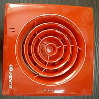Вентилятор осевой Вентс 100 Квайт красный, вентилятор тихий, вентилятор бытовой.