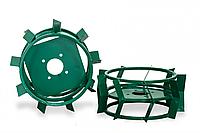 Колеса с грунтозацепами Ø 380мм (квадрат 12х12, высота зацепа 40 мм, ширина 155 мм, вес 12 кг/пара) Агромарка