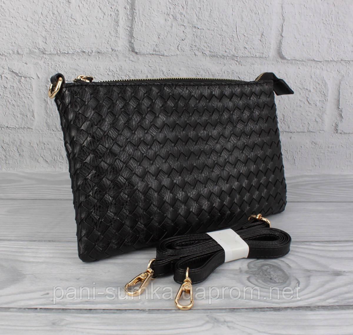 Клатч, сумочка через плечо Valensiy 619-1 черная