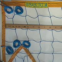 Сетка для классического волейбола «ЭКОНОМ 12 НОРМА» сине-желтая, фото 1