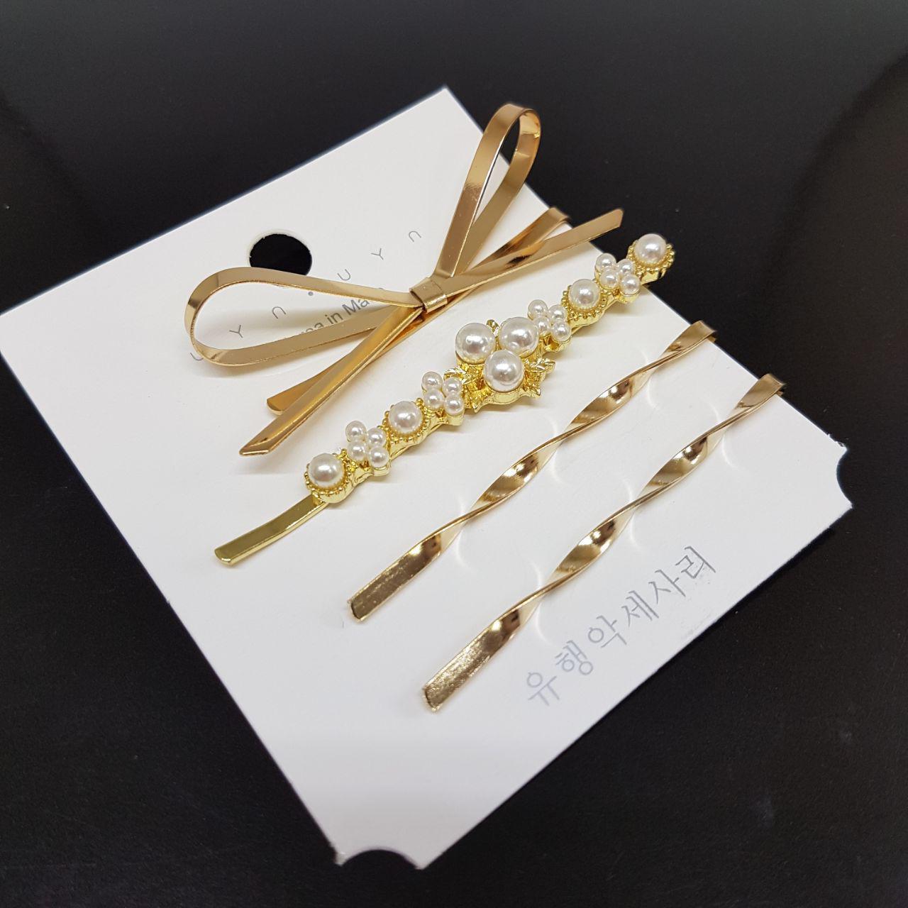 Набор из 4 украшений-заколок для волос UYN UYN (арт.05-bantik-4pcs)