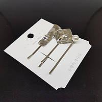 Набор из 3 украшений-заколок для волос UYN UYN (арт.07-silver-rectangle-3pcs)