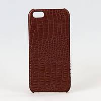 Чехол Crocodile leather brown пластиковый для iphone 5/5s