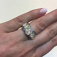 Красивейшее кольцо с огненным опалом в серебре. Кольцо огненный опал 15 размер