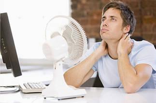 Вентилятор настольный Wimpex 15Вт 3 пласт. лоп. прищепка, фото 3