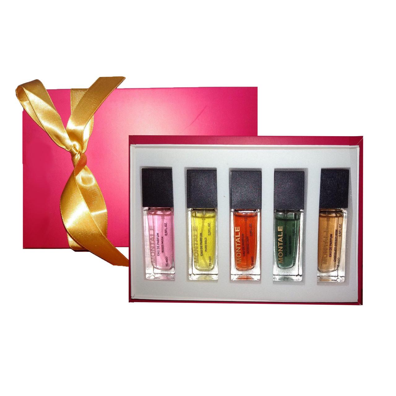 Подарочный набор мини-парфюмов Montale Pink unisex 5 по 15 мл