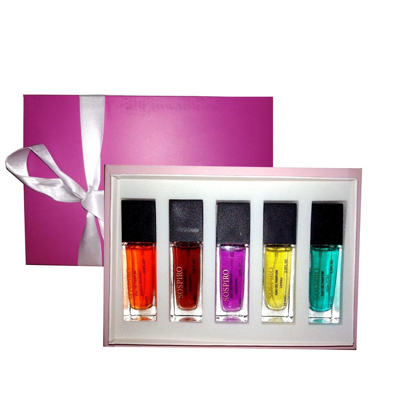 Подарочный набор мини-парфюмов Sospiro unisex 5 по 15 мл