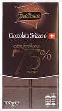 Шoколад Dolciando Extra fondente 75% 100 g