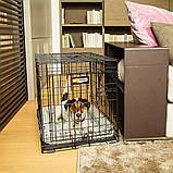 Вольер клетка для собак Ferplast (Ферпласт) DOG-INN 60 метал 64,1*44,7*49,2 см, фото 8