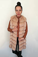 Жилет песцовый Oscar Fur 361-2 Персиковый