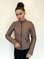 Куртка кожаная Oscar Fur 577 Кофейный