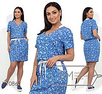 89ccd389b86 Джинсовое платье большого размера ТМ Фабрика моды батал Одесса интернет- магазин одежды р. 48